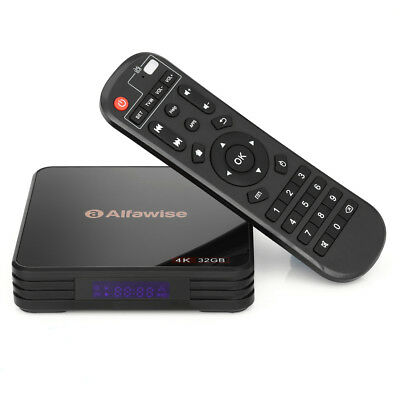 Alfawise A5X TV Box Android 8.1 OS Quad Core 4G / 32G Ultra 4K HD Media Player