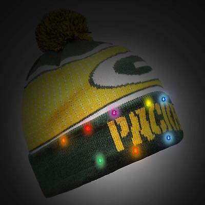 Green Bay Packers BIG LOGO Light Up Beanie New Style NFL Winter Cap Hat