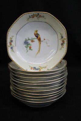 """Set of 12 Golden Pheasant (Octagonal) by ALTROHLAU 7 1/2"""" Coupe Cereal Bowls"""