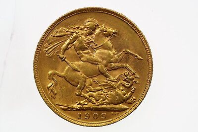 1909 Perth Mint Gold Full Sovereign in Very Fine Condition