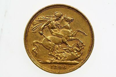 1896 Melbourne Mint Gold Full Sovereign in Very Fine Condition