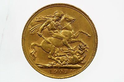 1907 Perth Mint Gold Full Sovereign in Very Fine Condition
