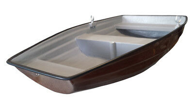 6' Real Wood Effect Pram Dinghy - Pond/ Lake Boat - Small Rowing Boat