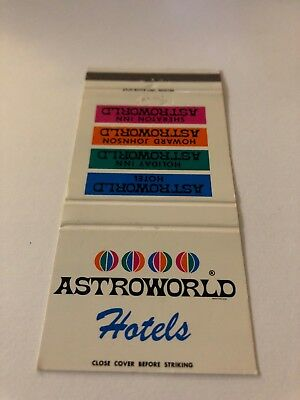 Vinyage Matchbook Cover Astroworld  Hotel Houston Texas
