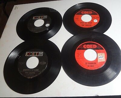 Lot of 4 Vintage Vinyl 45 RPM Records  COED-CRESTS 16 CANDLES