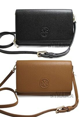 70539b6f104b NWT Tory Burch BOMBE Flat Leather Wallet Crossbody Bag Clutch 46177  275