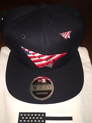 f8b65ff0c0b Roc Nation American Dream Navy Old School Hat With Pin Paper Planes Jay-Z  Hat