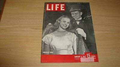 1947 Life Magazine January 6   Annapolis Drag   High Grade Lowest Price On Ebay