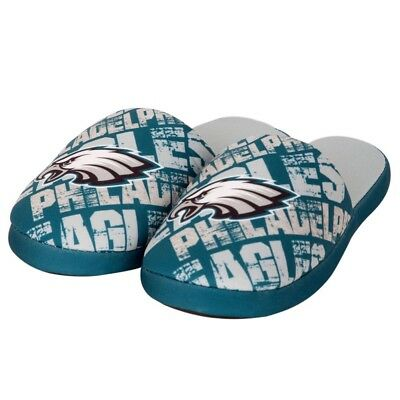 Philadelphia Eagles NFL Youth Boys Graphic Slippers Medium (3/4) NWT