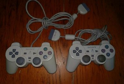 Lot of 2 Official Original OEM Sony Playstation 1 / PS1 / PSOne Controller -Pair