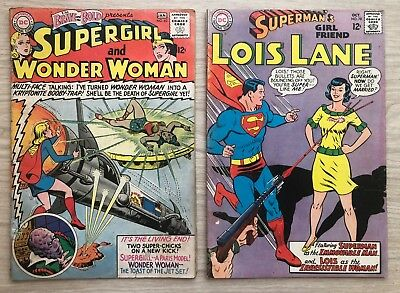 Brave and the Bold Supergirl + Wonder Woman #63(1966 DC) Lois Lane #78 LOT DC