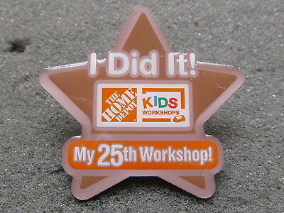 home depot collectibles home depot kids workshop i did it my 25  lapel pin