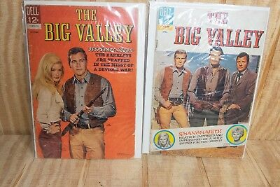 Lot of 2 Silver Age The Big Valley Western Comic Books