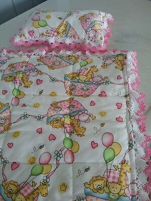 Doll Pillow And Quilt