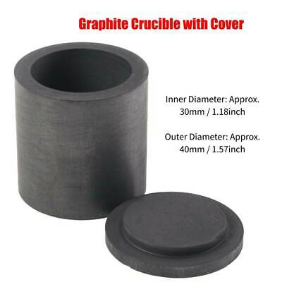 High Purity Jewelry Tools Graphite Melting Crucible Casting With Lid Cover