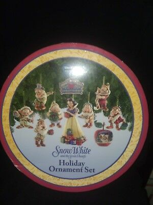 Walt Disney Snow White and the Seven Dwarfs Holiday Ornament Set by Jim Shore
