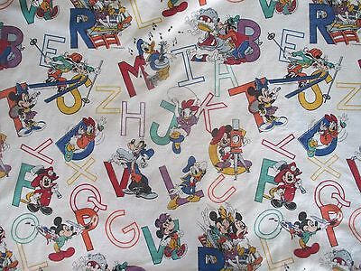 Disney Mickey Mouse Blanket Alphabet ABC Minnie Chatham Twin Full Vintage 62x84