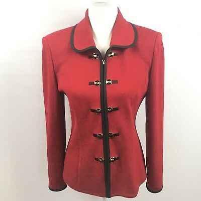 St. John Collection By Marie Gray Red Blazer Size 4
