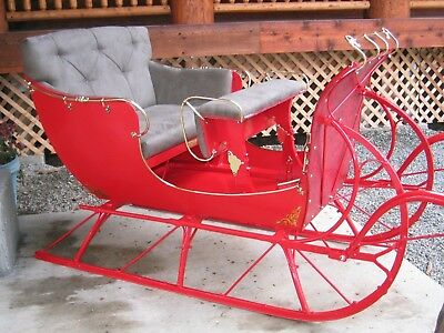 Horse Drawn Surrey Buggy Wagon Carriage Sleigh Cart Antique Santa gift present