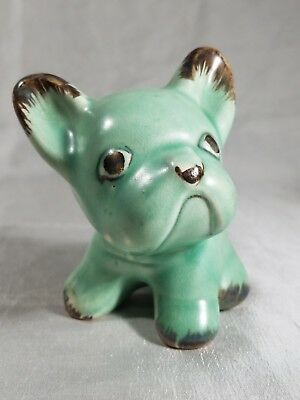 SYLVAC  Vintage Made in England French Bulldog - hard to find green color -small
