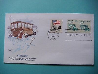 Fleetwood FDC 6-8-1985 - School Bus - First day of issue. lot#369
