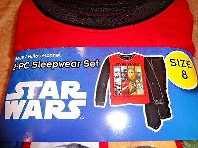 NIP Star Wars Boys Flannel 2pc Pajamas PJs Darth Vader Yoda M L XL 8 10/12 14/16