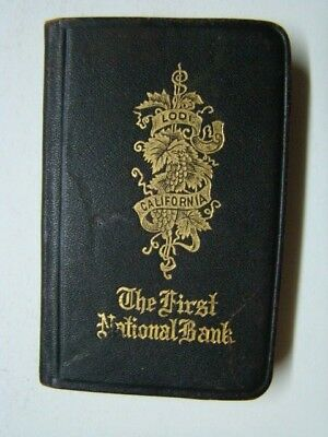 1916 First National Bank of Lodi California Pocket Booklet World Maps