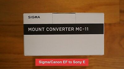 Sigma MC-11 Mount Converter Lens Adapter (Sigma/Canon EF Mount to Sony E) - New