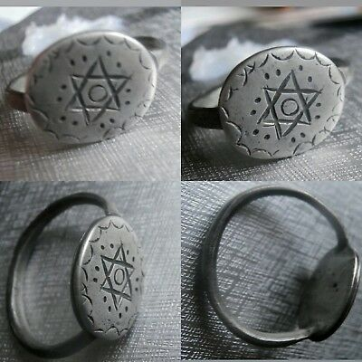 Low Outbid1$!!extremely Rare Ancient Silver Jew Medieval Ring