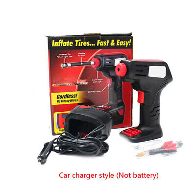Auto Cordless Electric Car Vehicle Air Compressor Hand Held Pump with LCD