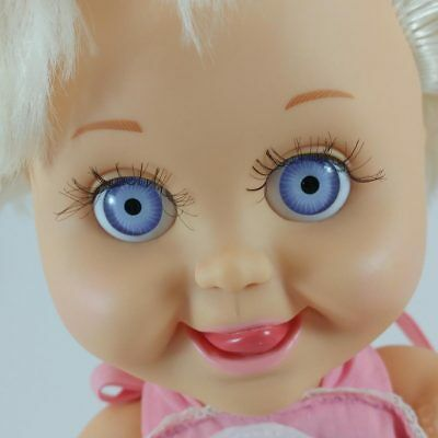 vtg Galoob Baby Face doll Delightful Dee Dee blonde violet eyes DeeDee #8 1990