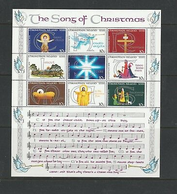 "Christmas Island. 1978. ""Christmas"" .MUH Sheet The  Song of Christmas.See Photo"