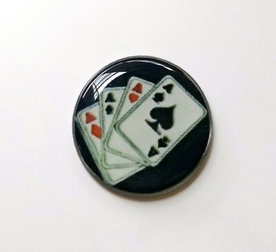 anneys~ GOLF  BALL  MARKER  ~ 4 aces!