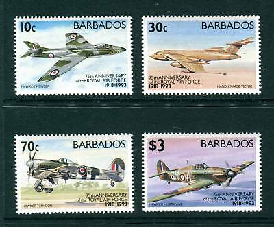 1993 Barbados Royal Air Force 75th Anniv. RAF Airplanes, Helicopter