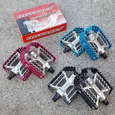 Odyssey Triple Trap Pedals 9/16 For 3 Pc Cranks Bmx Bike Pedal Haro Se Redline