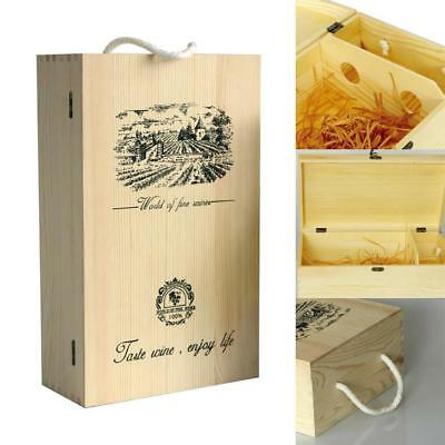 Personalised Retro Wooden Birthday Wine Storage Box Champagne Gift Box Case