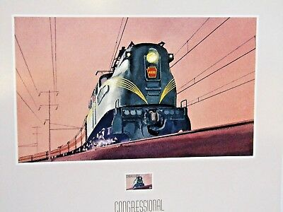 "GG-1 CONGRESSIONAL Train Locomotive Railroad 13"" x 16""  1999 Postage Stamp Print"