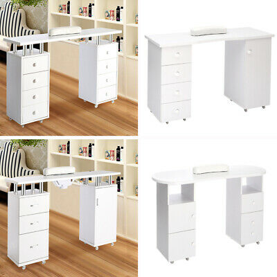 UK Manicure Table Technician Nail Art Beauty Salon Station Desk Storage Pedicure