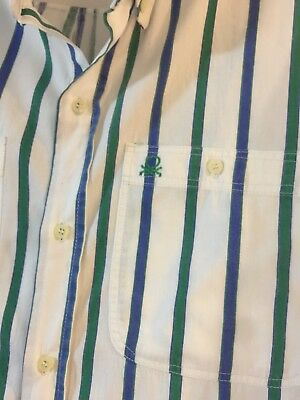 Men's Vintage/Retro Benetton Long Sleeve Shirt 1980's