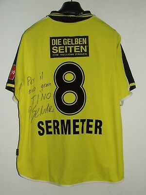 Soccer Jersey Trikot Maillot Match Worn Young Boys Sermeter 8 Signed