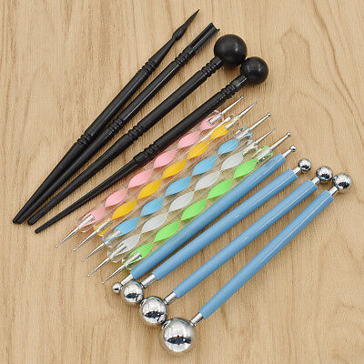 13pcs Dotting Tools Set Ball Stylus Embossing Pattern Clay Mandala Rock Painting