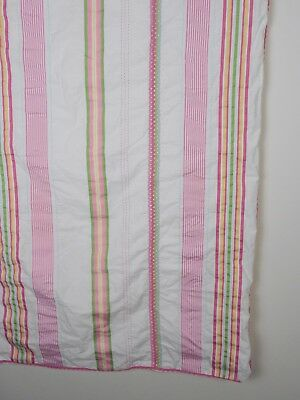 "POTTERY BARN Kids Pink & White TODDLER Bed Duvet Cover Cotton 50"" x 36"" PBK"