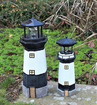 Solar Powered Lighthouse  Rotating Led Garden Light House Decor