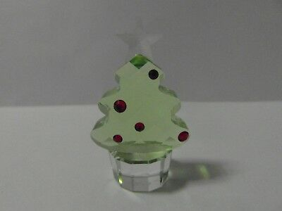Swarovski Crystal Christmas Tree With Star And Red Decorations