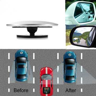 Car Rearview Blind Spot Wide Angle Adjustable Rimless Mirror Rear View Convex