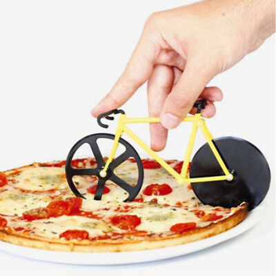 Creative Bicycle Pizza Cutter Non-Stick Tungsten Steel Bike Dual Wheel Knife