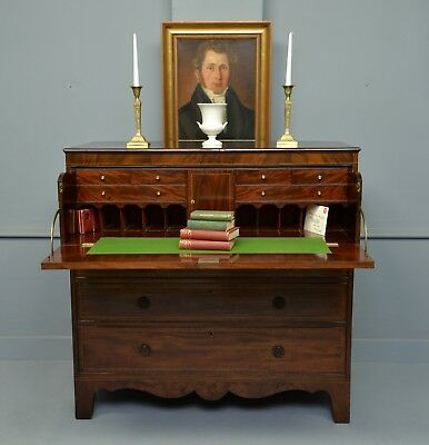Fine George III Mahogany Secretaire Chest /  Desk / Bureau