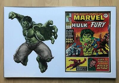 Stan Lee & Jack Kirby Signed Mighty World of Marvel Vol 1 #267 + COA 21x13