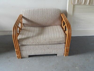 Two (2) Ficks Reed Antique Rattan Pull Out Sleeper Chairs in Very Good Condition