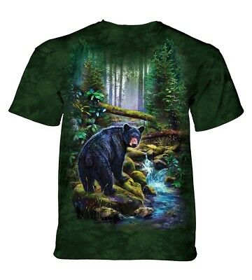 The Mountain Unisex Adult Black Bear Forest Animal T Shirt